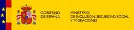 Escudo de España junto al logo del Ministerio de Inclusión, Seguridad Social y Migraciones con enlace a su página web. Enlace en nueva ventana.